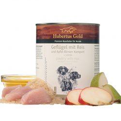 Hubertus Gold konservai šunims su paukštiena ir ryžiais