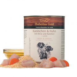 Hubertus Gold konservai šunims su triušiena ir vištiena 800g.