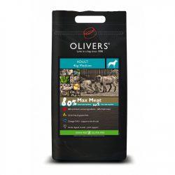 Olivers MAX MEAT 80% ADULT GRAIN FREE sausas begrūdis šunų pašaras su mėsa