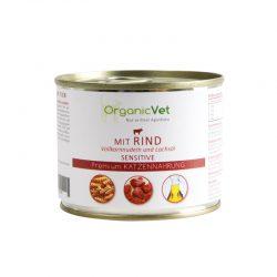 OrganicVet Beef with pasta & salmon oil konservai katėms 200g