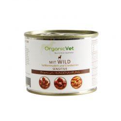 OrganicVet Venison (Game) with pasta & cranberries konservai šunims