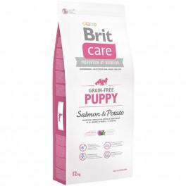 Brit Care Grain-free Puppy maistas mažiems šunims su lašiša ir bulvėmis
