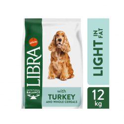 """LIBRA """"DOG LIGHT"""" pašaras suaugusiems šunims su kalakutiena 12kg."""